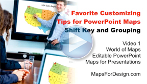 Favorite Customizing Tips for PowerPoint Maps (Shift Key and Grouping)