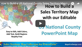 How to Build Sales Territories Using USA National County Map