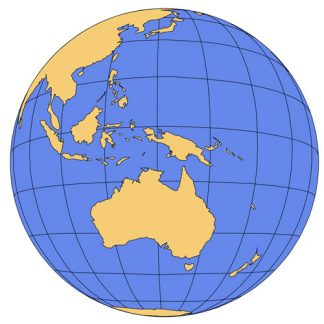 Australia Global Projection PowerPoint Map