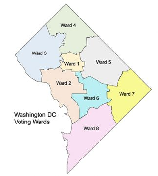 Washington DC Voting Ward Map