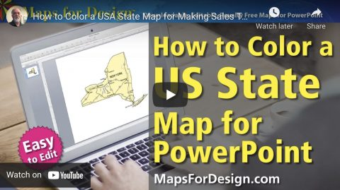 how to color a us state map for powerpoint