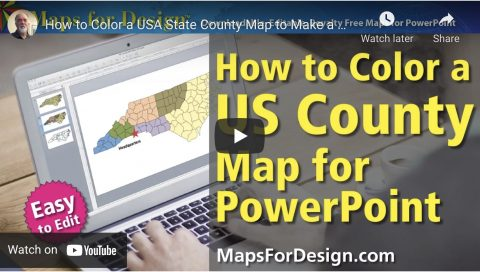 how to color a us country powerpoint map
