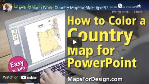 how to color a world country map for powerpoint