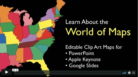 Maps for Design editable PowerPoint maps now work with Apple Keynote and Google Slides presentation software
