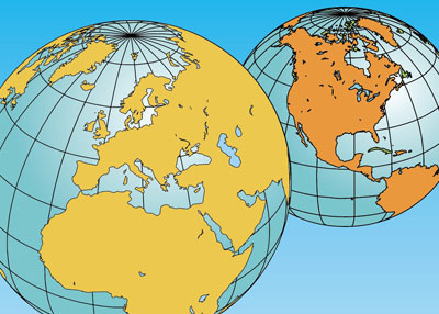 world globes maps editable powerpoint catalog page