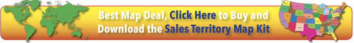 Best Map Deal Sales Territory Map Ad