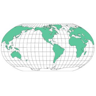 World Robinson Projection PowerPoint Map, North America Centered, Continents