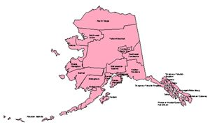 Alaska, Editable County PowerPoint Map for Building Regions