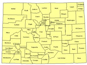 Colorado Editable US Detailed County and Highway PowerPoint Map