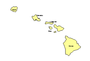 Hawaii, Editable County PowerPoint Map for Building Regions