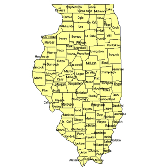 Illinois Editable US Detailed County and Highway PowerPoint Map