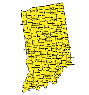 Indiana, Editable County PowerPoint Map for Building Regions