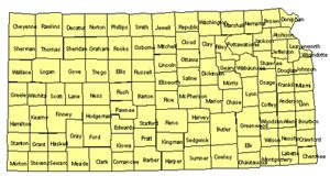 Kansas Editable US Detailed County and Highway PowerPoint Map