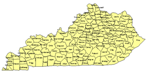 Kentucky Editable US Detailed County and Highway PowerPoint Map