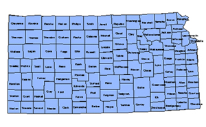 Kansas, Editable County PowerPoint Map for Building Regions