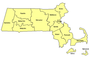Massachusetts Editable US Detailed County and Highway PowerPoint Map