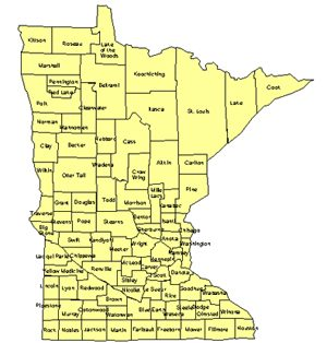Minnesota Editable US Detailed County and Highway PowerPoint Map