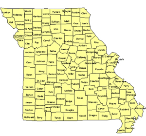 Missouri Editable US Detailed County and Highway PowerPoint Map