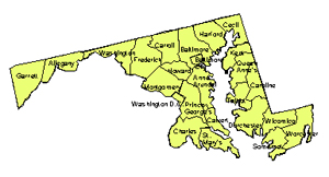 Maryland Editable County PowerPoint Map for Building Regions