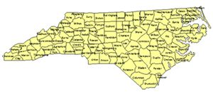 North Carolina Editable US Detailed County and Highway PowerPoint Map