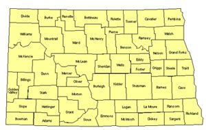 North Dakota Editable US Detailed County and Highway PowerPoint Map