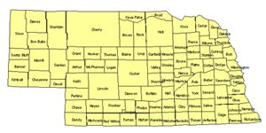 Nebraska Editable US Detailed County and Highway PowerPoint Map