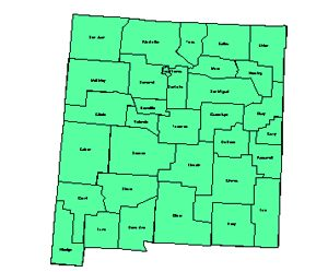 New Mexico Editable County PowerPoint Map for Building Regions