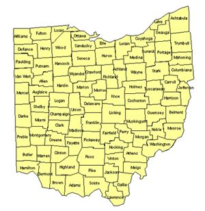 Ohio Editable US Detailed County and Highway PowerPoint Map