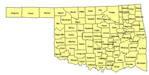Oklahoma Editable US Detailed County and Highway PowerPoint Map