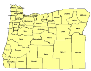 Oregon Editable US Detailed County and Highway PowerPoint Map