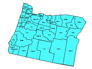 Oregon Editable County PowerPoint Map for Building Regions