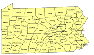 Pennsylvania Editable Us Detailed County And Highway Powerpoint Map