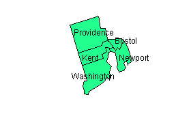 Rhode Island Editable County PowerPoint Map for Building Regions
