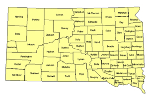 South Dakota Editable US Detailed County and Highway PowerPoint Map