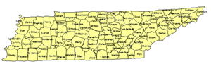 Tennessee Editable US Detailed County and Highway PowerPoint Map
