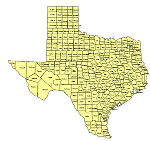 Texas Editable US Detailed County and Highway PowerPoint Map