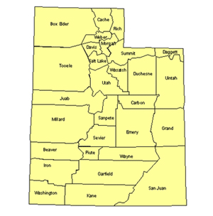Utah Editable US Detailed County and Highway PowerPoint Map