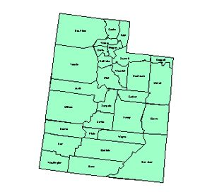 Utah Editable County PowerPoint Map for Building Regions