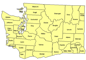 Washington Editable US Detailed County and Highway PowerPoint Map
