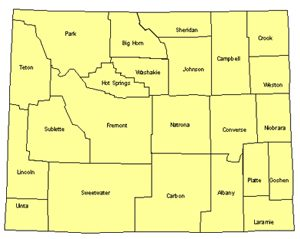 Wyoming Editable US Detailed County and Highway PowerPoint Map