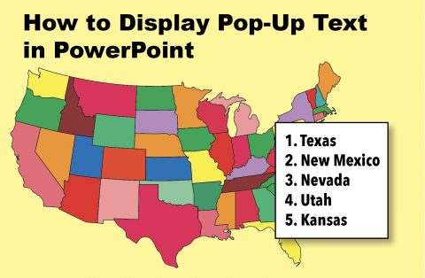 display pop-up text in PowerPoint