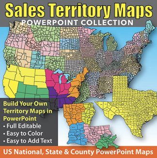 sales territory maps editable powerpoint collection